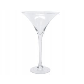 Coupe à cocktail en verre soufflé à la bouche H40cm