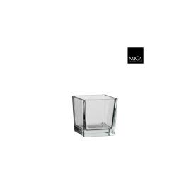 Vase carre verre transparent -12x12cm