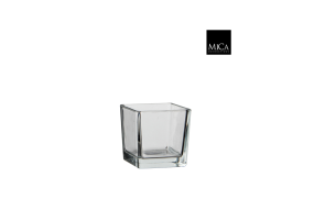 Vase carre verre transparent -12x12cm