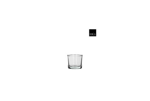 Vase cylindre en verre transparent H8xD9cm