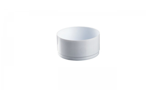COUPE PLASTIQUE BLANCHE D22cm 4pcs