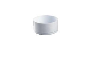 COUPE PLASTIQUE BLANCHE D26cm  3pcs