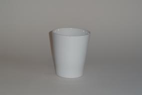 "cache-pot orchidée ""Merina""blanc brillant"