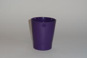 "cache-pot orchidée ""Merina""lilas foncé brillant"