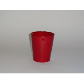 """cache-pot orchidée """"Merina""""bordeaux brillant"""