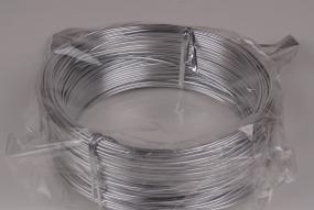 Fil d'aluminium argent 2mm