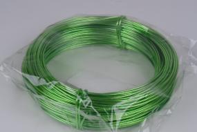 Fil d'aluminium coloré vert pomme 2mm,rouleau de 60m